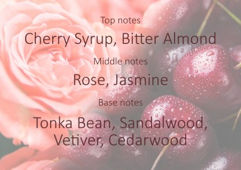 Fragrance trends - Rose and cherry syrup pyramide
